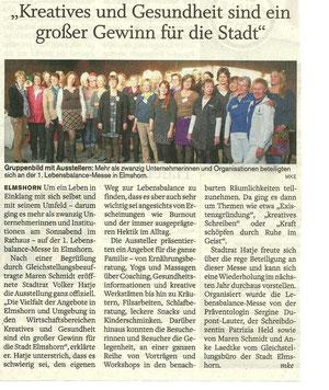 Nachbericht in den Elmshorner Nachrichten 29.10.2012