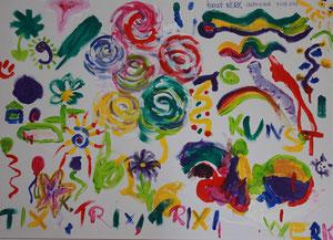 Ein Kunstwerk von meinen Eröffnungsgästen gemalt am 30.09.2012
