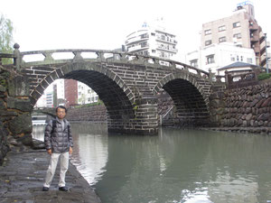 日本最古の石橋 長崎の眼鏡橋
