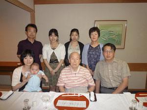 2011年7月23日 友岡稔の卒寿の祝い