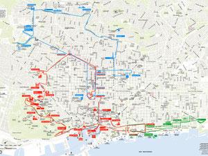 Plano bus turístico Barcelona