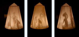 'Die Fremden' 2011, Lichtobjekt 1,97 m  x 0,86 m