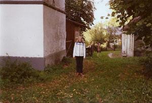 Hier bin ich als Kind am Schloss Rantzau
