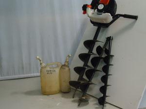 Erdlochbohrer mit den Bohrdurchmessern 250 cm, 150 cm und 100 cm