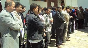 Si Brahim en manifestation universitaire à la FPT