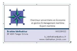 Carte de viste Brahim Idelhakkar