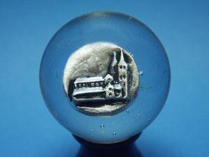 Thüringer Residenzen Glasmurmel mit Porzellaninlay