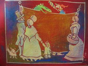 """Holzschnitt für """"Die Weihnachsgeschichte"""" von Dickens"""