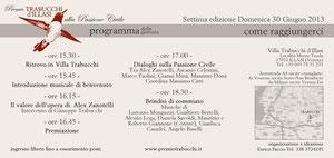 Programma Premio Trabucchi 2013