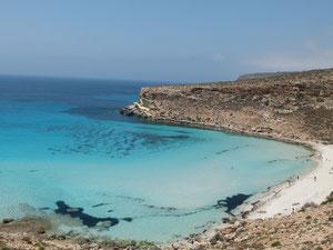 Lampedusa, spiaggia dell'isola dei Conigli