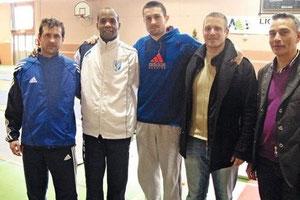 Yvan Trevejo, avec les autres demi-finalistes. (photo b.S.)