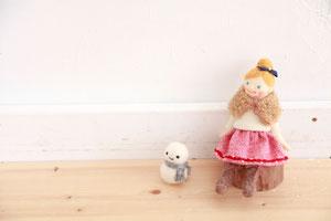 羊毛フェルト 人形 雪だるま