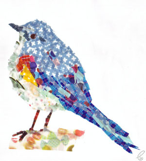 ルリビタキ/マスキングテープ 2011,12.18