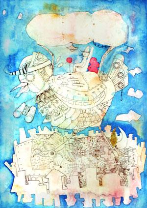 旅に出よう/ネオピコライン透明水彩 マスキングテープ 2011,12.7