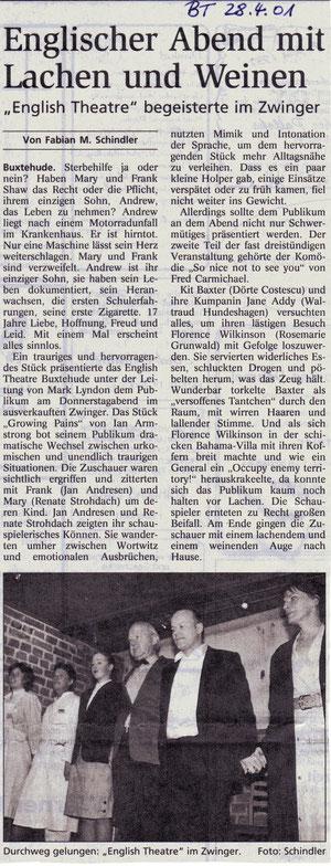 Buxtehuder Tageblatt, 28.04.2001