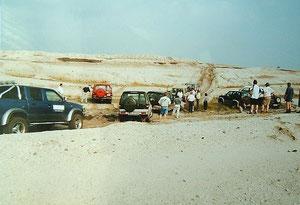 ...die ersten Tagebausafaris im Tagebau Meuro  im Jahr 2000