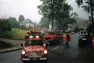 2002 zum Festwochenende anlässlich des 75 jährigen Bestehens der FFW Vogelsgrün.