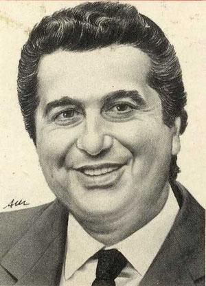 CARLO DE BENEDETTI, di A.Molino. Ink on paper. Pubblicato su CAPITAL, 1986