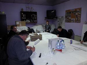 Les membres du MCS prépare l'animation OMS
