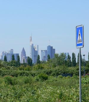 Blick von Offenbach-Kaiserlei nach Frankfurt