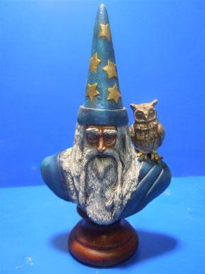 Prova di scultura Mago Merlino 2° tipo Pittura di Riccardo Ruberti
