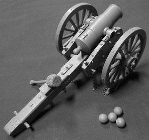 Ecco i cannoni terminati: Obice mod.1841 impiegato durante la Guerra Civile Americana - Scala 1/24 - 75mm