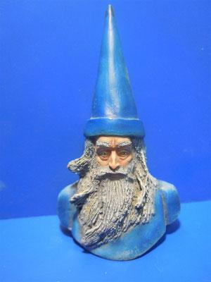 Prova di scultura Mago Merlino 1° tipo Pittura di Luca Gentili