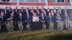 1985 The Bands new Uniforms with money raised by a sponsored bike ride from Market Rasen to Rotterdam