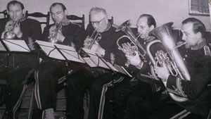 1966 Five Members of The Hall Family, responsible for the reformation of the Band.