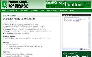 DUATLON CROS CACERES 2010