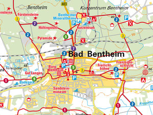 Wanderkarte Bad Bentheim