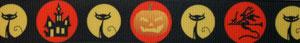 Borte Halloween, 25mm, Halsband Hund
