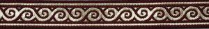 Borte gold rot, 22mm, Halsband Hund