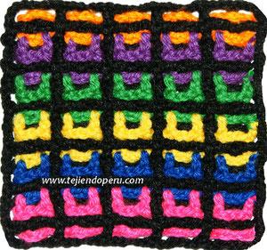 Cómo tejer el punto filet entretejido a crochet