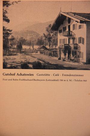 Historische Postkarte von Achatswies