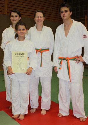 Von links: Valeria, Rebecca, Irmgard, Jonathan Huffmann