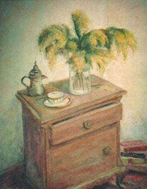 Mimosas en la mesilla