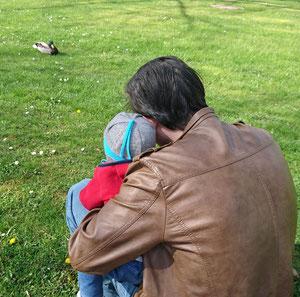 #12von12 #6von12 Spaziergang Ente Papa Baby