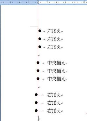 行頭文字のどの位置に0文字ラインが位置するかとなる