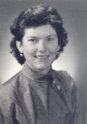 Christine auf Passfoto (1956)