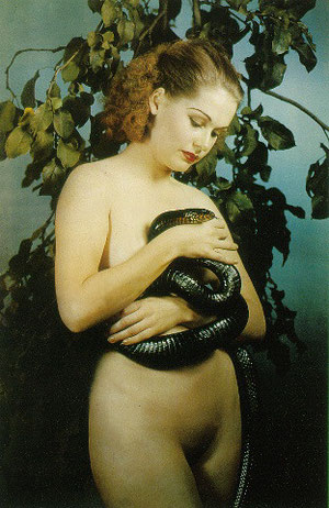 Woman with Snake, 1938. Photo Paul Outerbridge