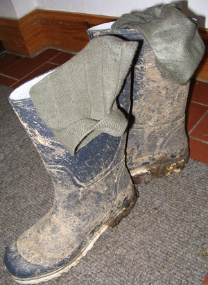 These were literally 'glued' to the insides of my wellies with sweat!