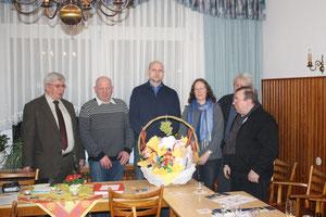 Der Vorstand mit altem und neuem Kassenwart