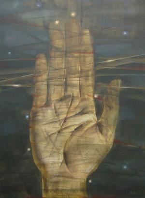 Hand, Grafik von Anna Angermüller-Pomozova