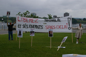 Bannière Libérez Nathalie Morin