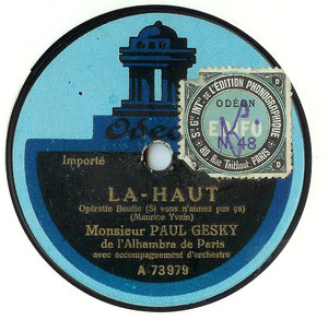 Etiquette de 1920 (matrices Ki)