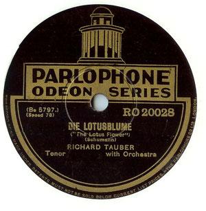 Etiquette des années 30 (matrices allemandes éditées sous label Parlophone