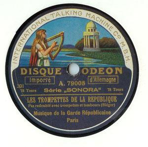 "Etiquette ""SONORA"" de 1916"