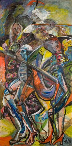Beethoven, 1991-1992, Acryl auf Rollo, 240cm x 127cm