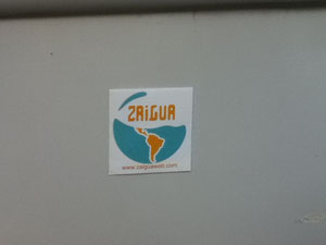 7cm x 7cm sticker on La Zaigua